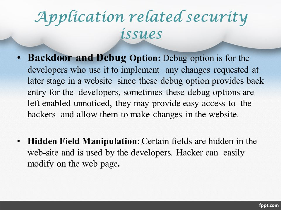 Application related security issues