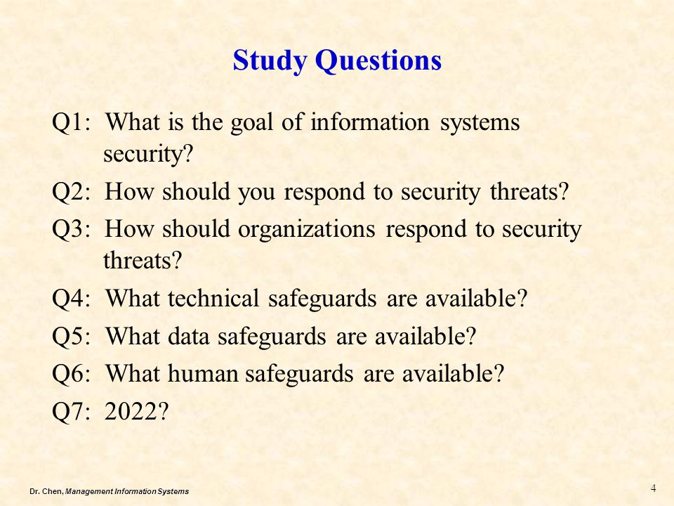 what are the goals of information system security essay Colleges and even employers might ask you to write a career goals essay it is not as difficult as it sounds get started here.