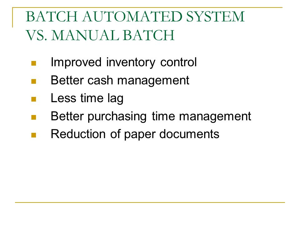 manual system or automated election system essay While automated tests will detect most bugs in your system, there are limitations for example, the automated tools can't test for visual considerations like image color or font size changes in these can only be detected by manual testing, which means that not all testing can be done with automatic tools.