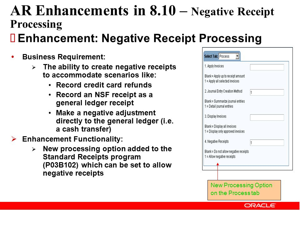 AR Enhancements in 8.10 – Negative Receipt Processing