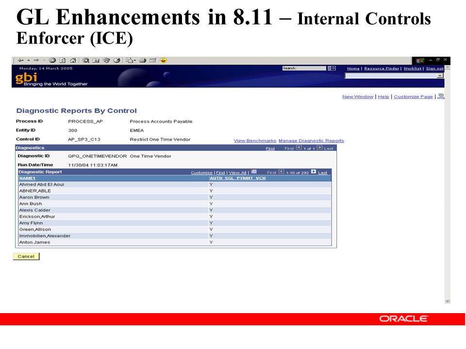 GL Enhancements in 8.11 – Internal Controls Enforcer (ICE)