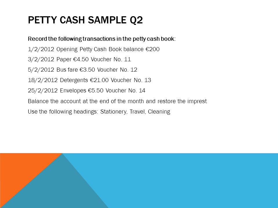 PETTY CASH BOOK ppt download – Example of Petty Cash Voucher