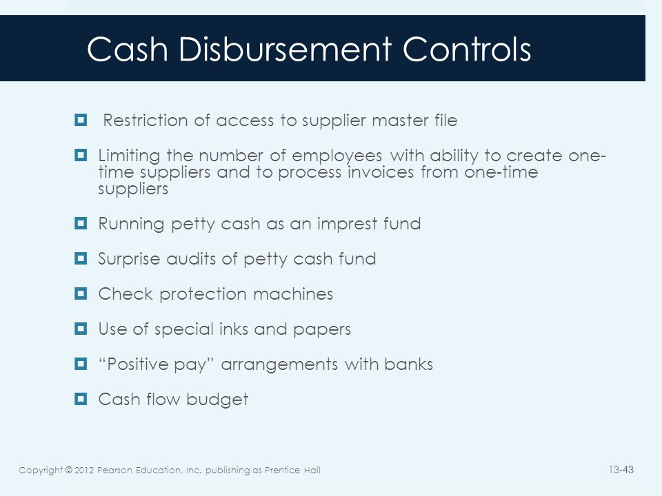 purchasing and cash disbursement Cash outflows are payment of cash, typically arising from the purchase of items, payment to creditors, loans repaid or given, rental payment, purchase of assets and interest payments net cash flow is the sum of cash inflows to an organisation minus the sum of cash outflows over a period of time.
