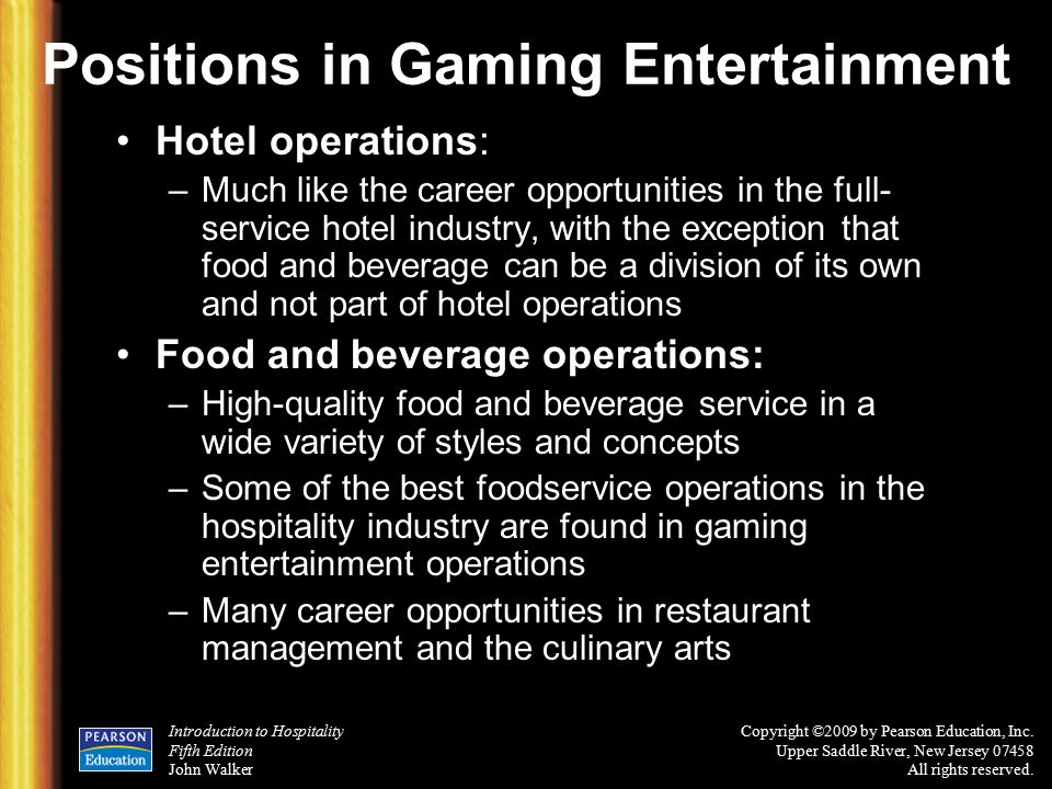 Casino entertainment industry introduction the casino job wiki