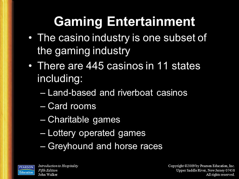 history of the casino gaming industry