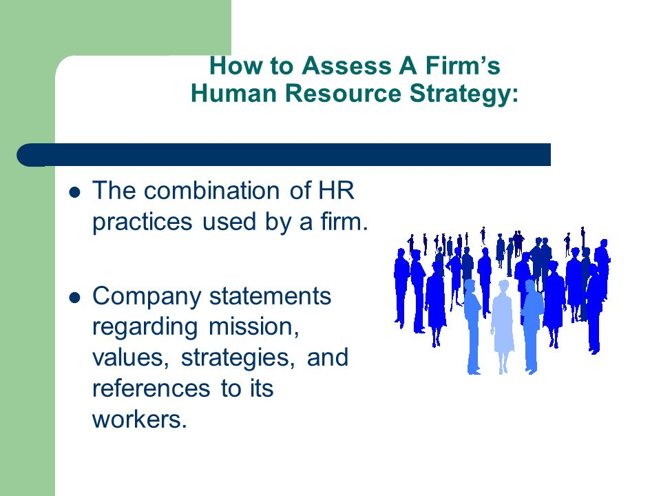 How to Assess A Firm's Human Resource Strategy: