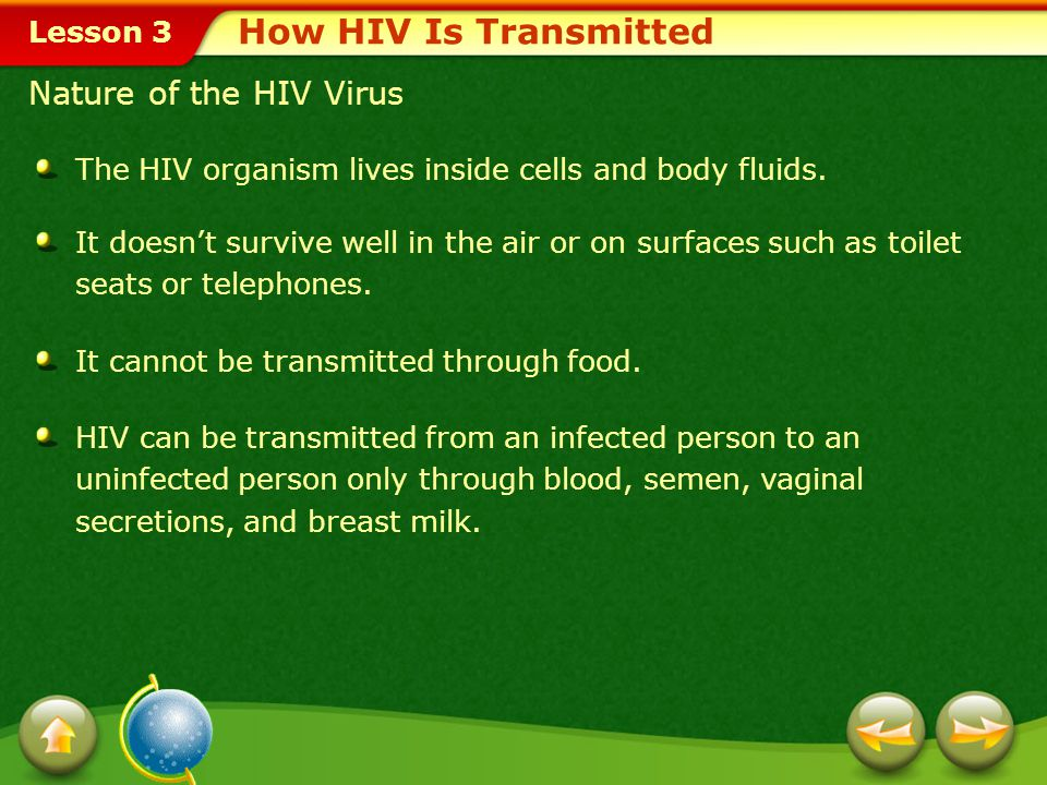 How HIV Is Transmitted Nature of the HIV Virus