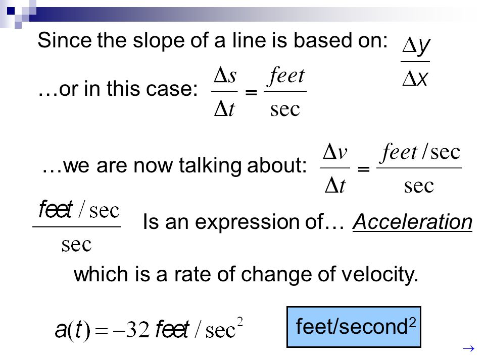 Since the slope of a line is based on: