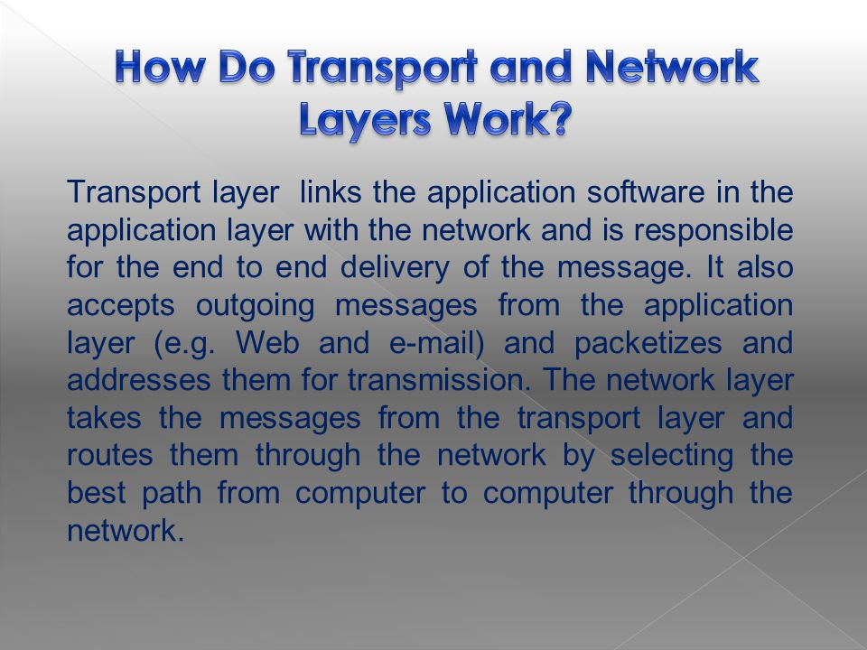 How Do Transport and Network Layers Work