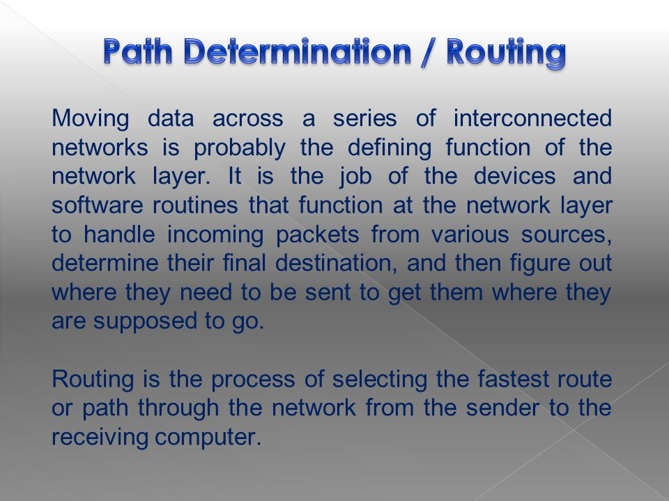 Path Determination / Routing