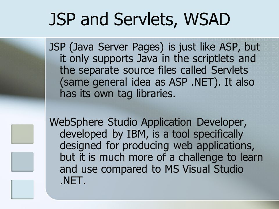 JSP and Servlets, WSAD