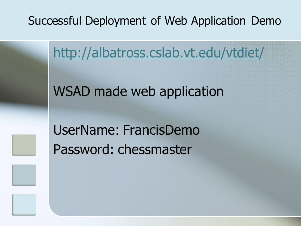 Successful Deployment of Web Application Demo