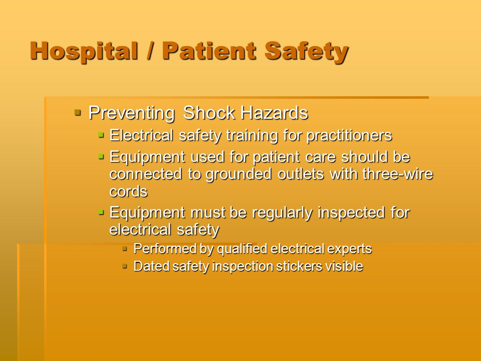 Electrical Safety Inspection Stickers : Ret introduction to respiratory therapy ppt video