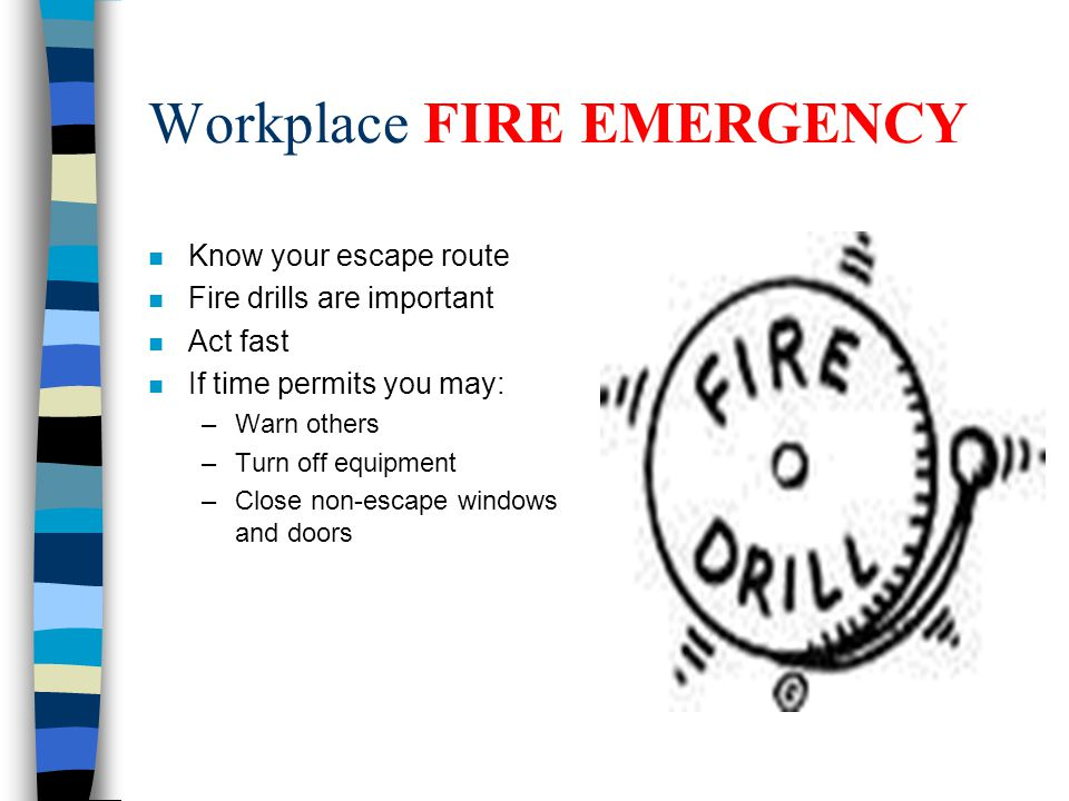 how to run a fire drill at work