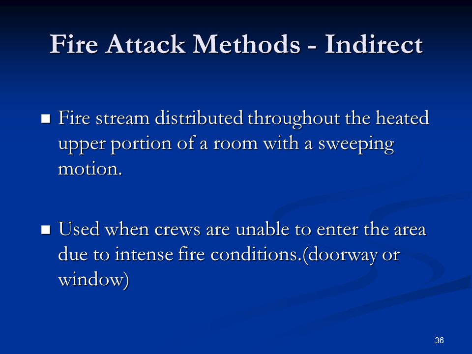 Fire Attack Methods - Indirect