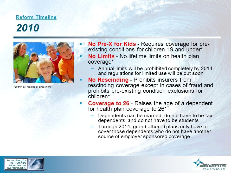 No Limits - No lifetime limits on health plan coverage*
