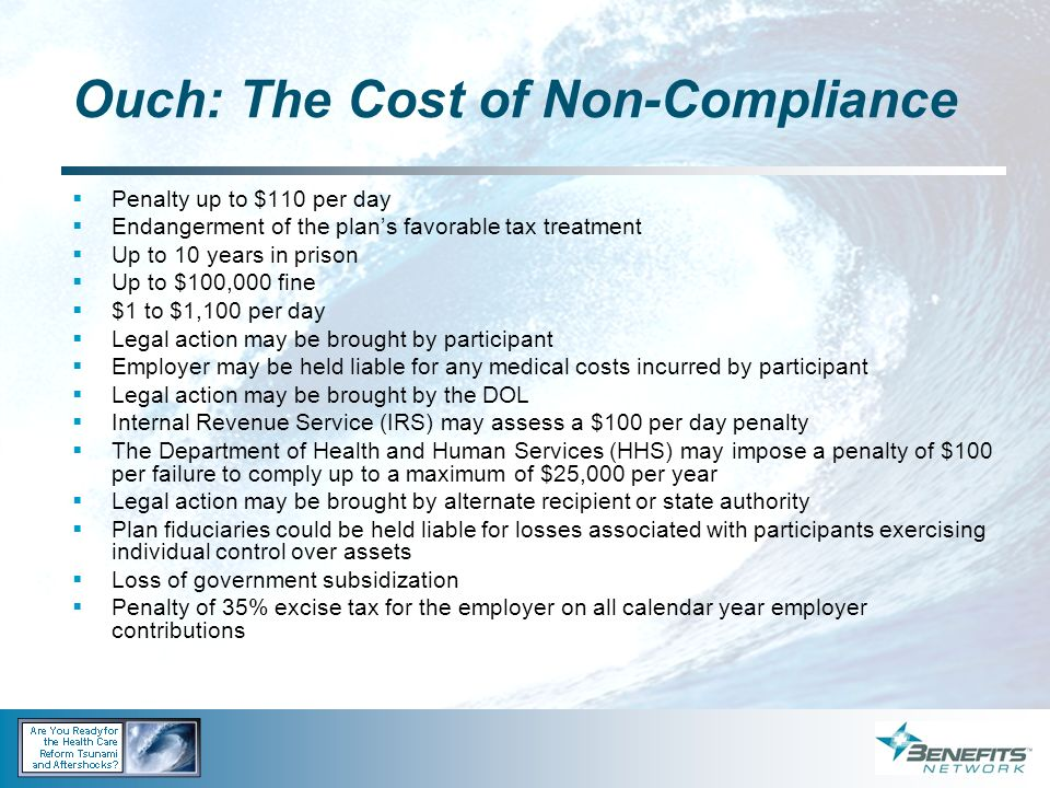 Ouch: The Cost of Non-Compliance
