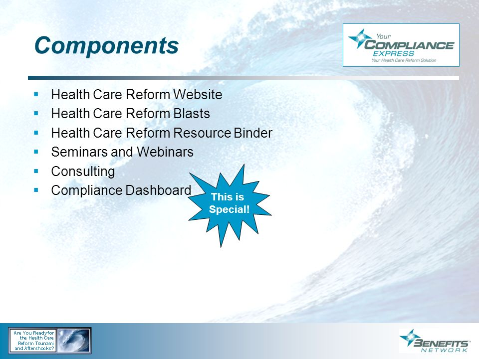 Components Health Care Reform Website Health Care Reform Blasts