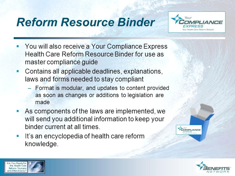 Reform Resource Binder