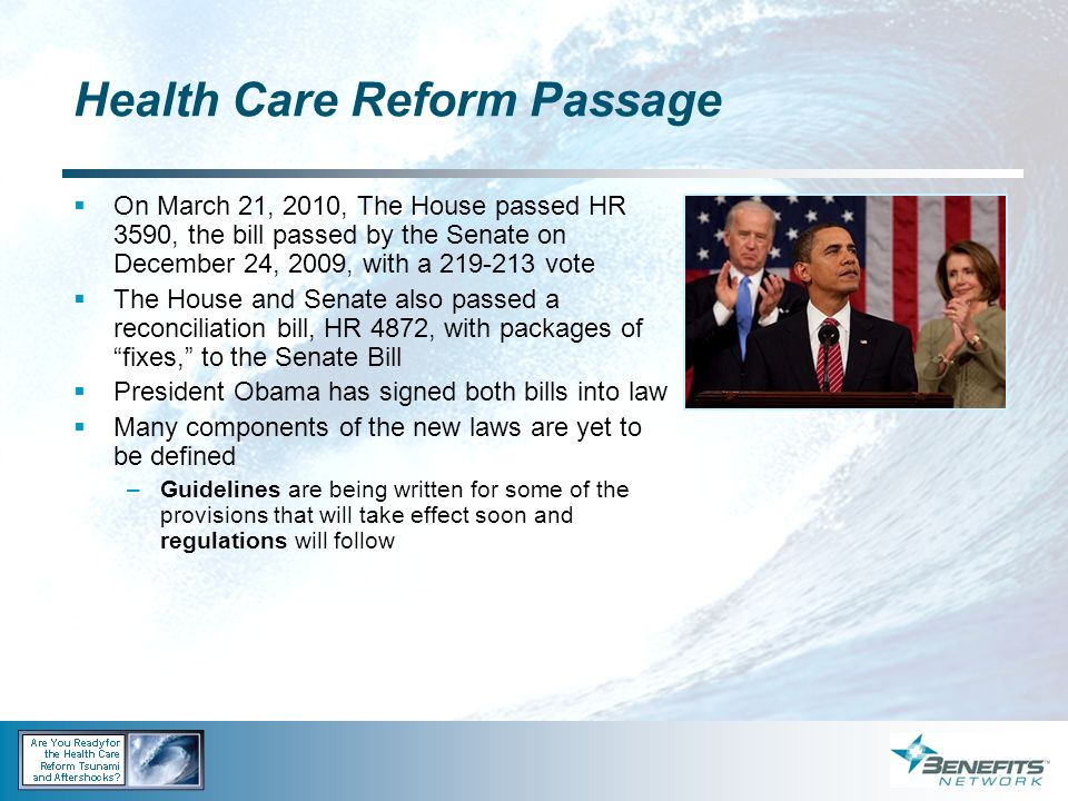 Health Care Reform Passage