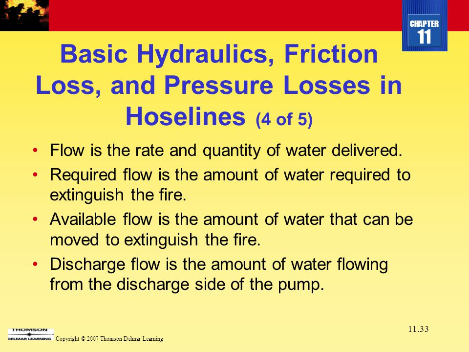 5 Fire Hose Friction Loss: Nozzles Fire Streams And Foam