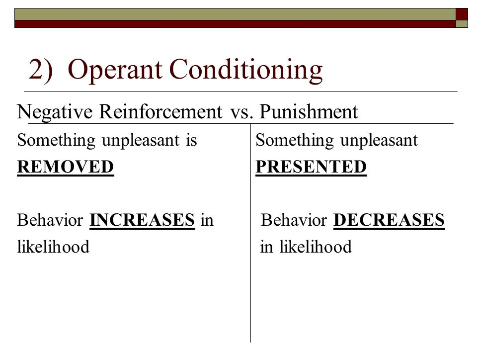 examples of classical conditioning operant conditioning Are you or somebody you know suffering from obsessive compulsive disorder (ocd) and it is affecting the quality of life learn how operant conditioning can help.