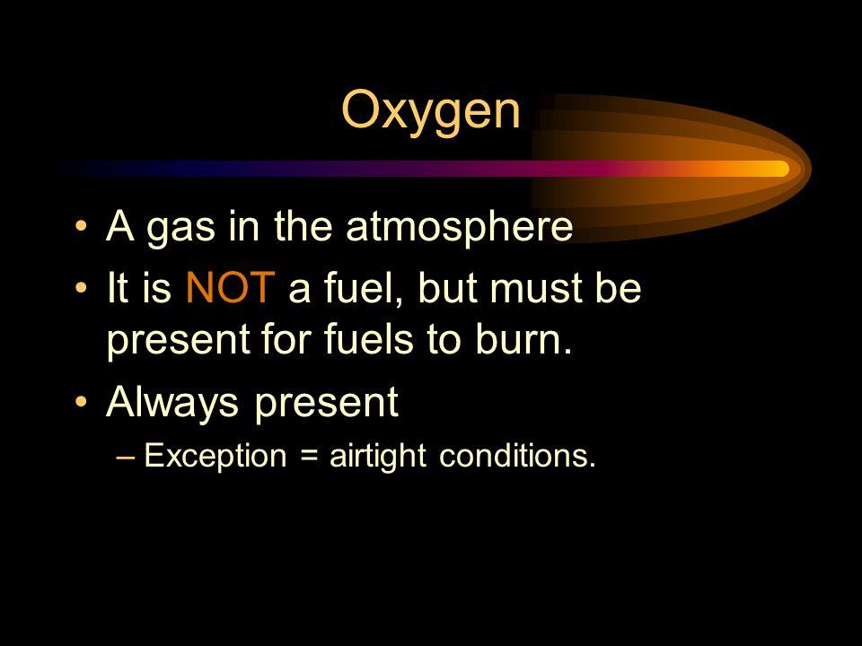Oxygen A gas in the atmosphere