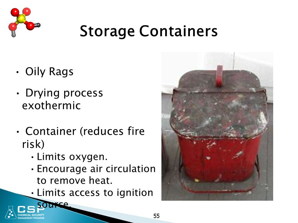 55 Storage Containers Oily Rags