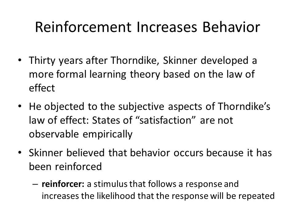 Reinforcement Increases Behavior