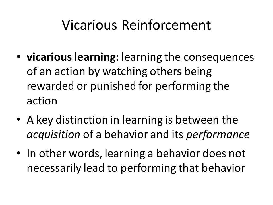Vicarious Reinforcement