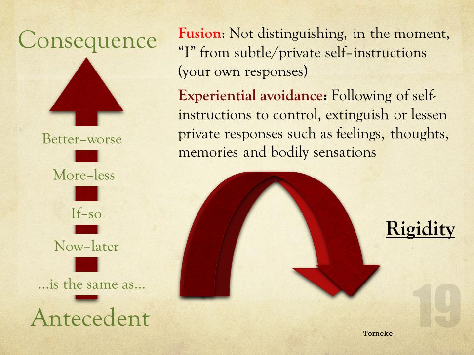 Consequence Antecedent Rigidity