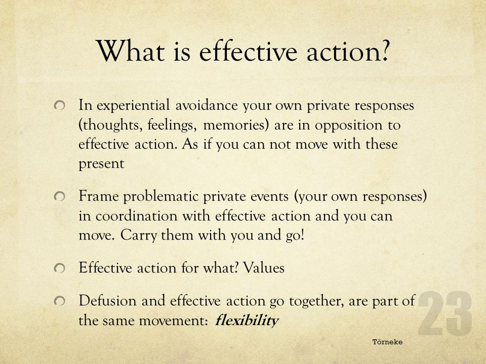 What is effective action