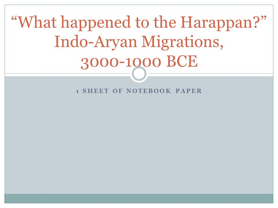 what happened to the harappans
