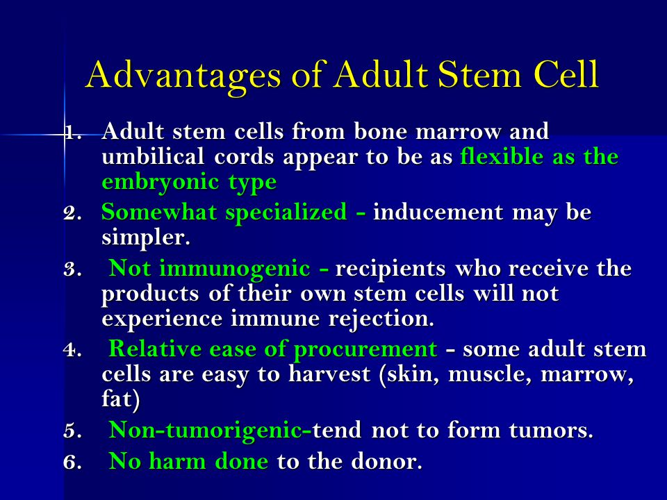 adult stem cell not embryonic