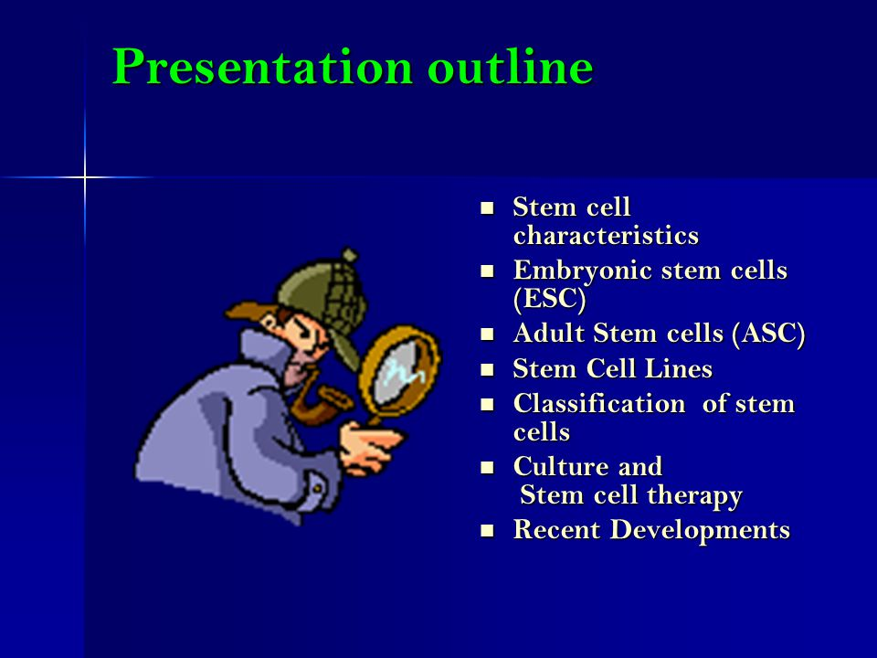 Stem cell research outline