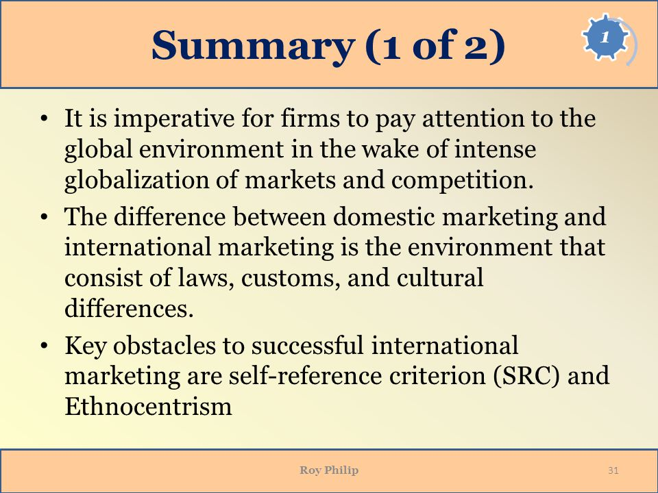 global and domestic marketing Domestic marketing and international marketing are same when it comes to the fundamental principle of marketing marketing is an integral part of any business that refers to plans and policies adopted by any individual or organization to reach out to its potential customers.