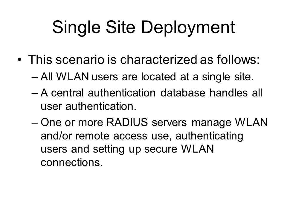 Single Site Deployment