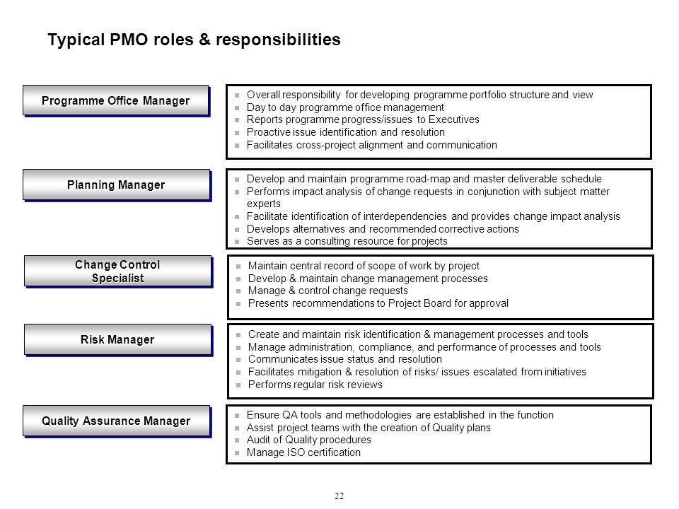 typical pmo roles responsibilities pmo responsibilities