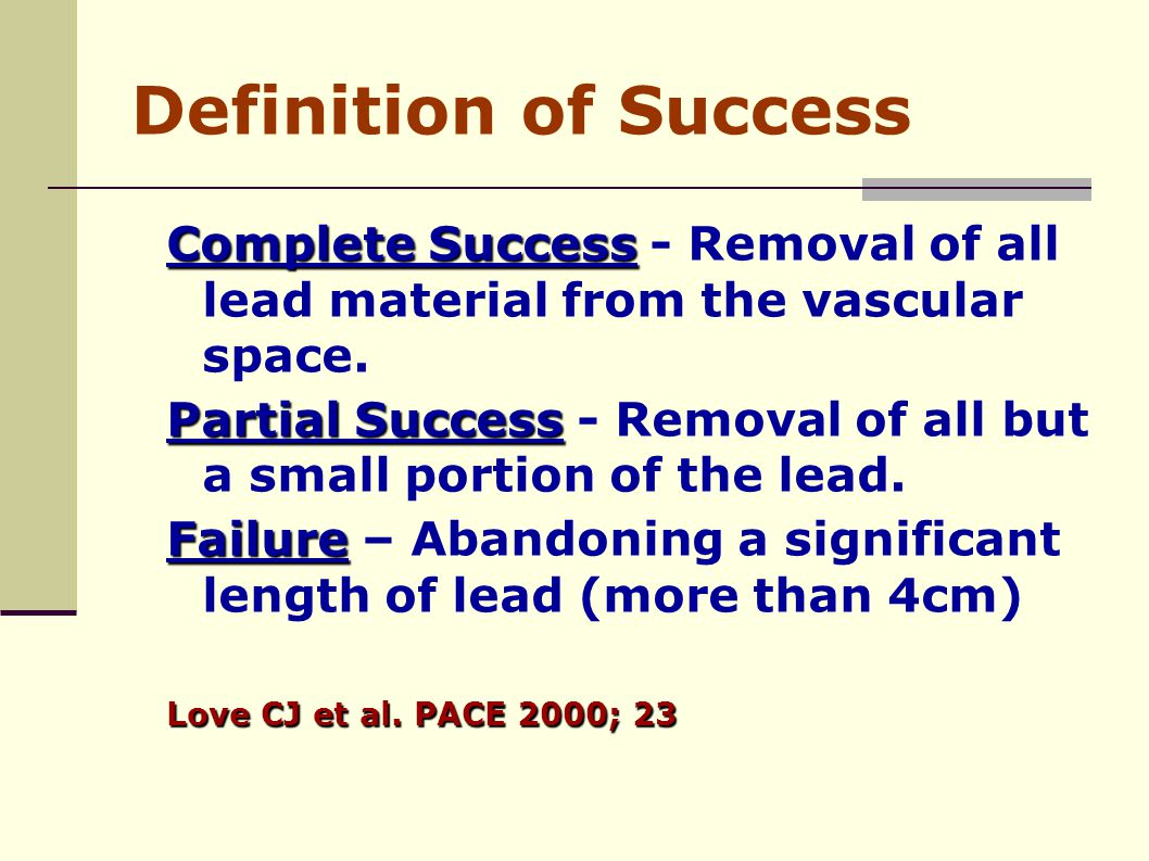 How to handle lead problems in pediatric congenital for Definition of space in a relationship