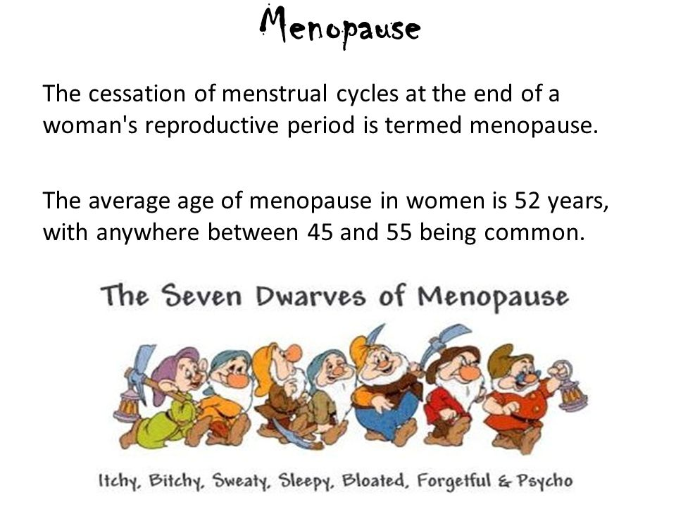 An analysis of menopause in and the menstrual cycle in women