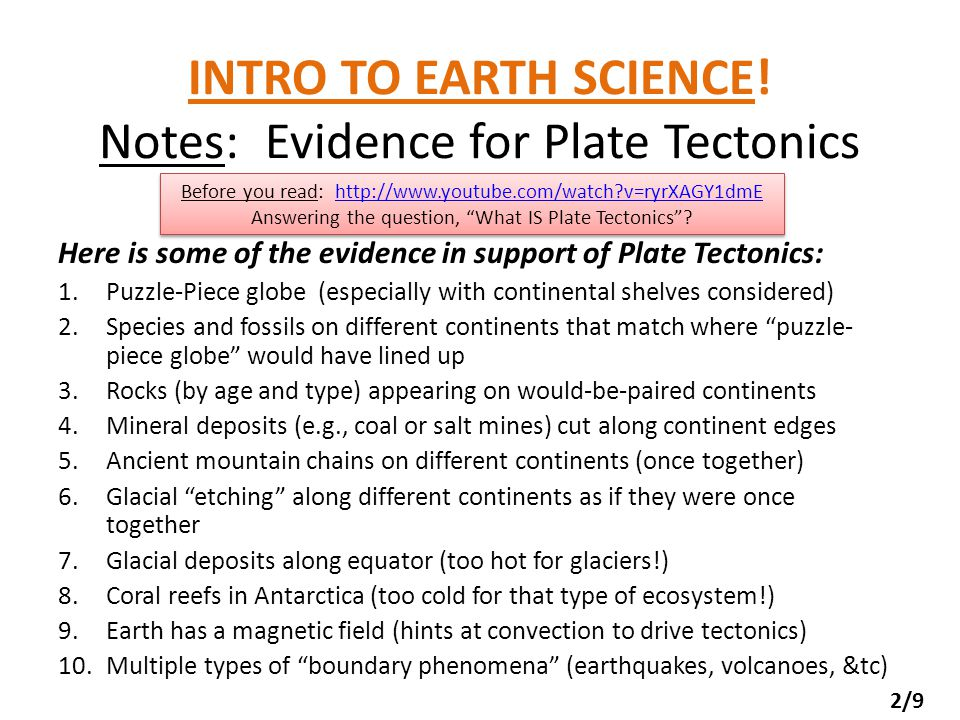 PHY111: Summer Lesson 15: Earth Science Tie-ins Plate Tectonics ...