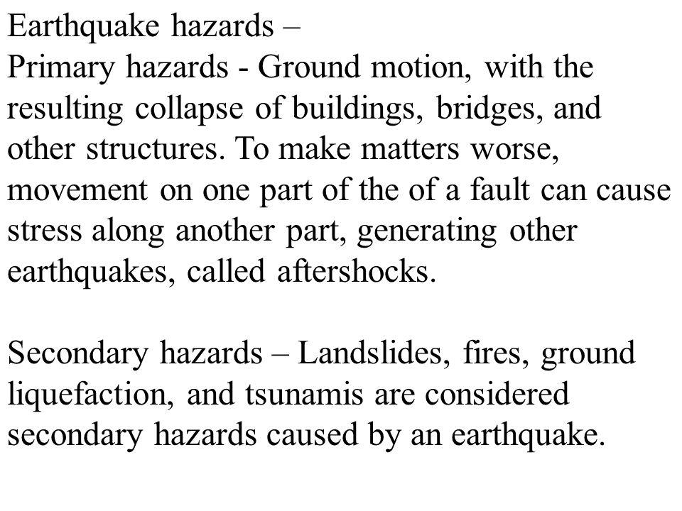 Earthquake hazards –
