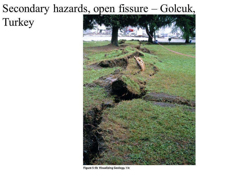 Secondary hazards, open fissure – Golcuk, Turkey