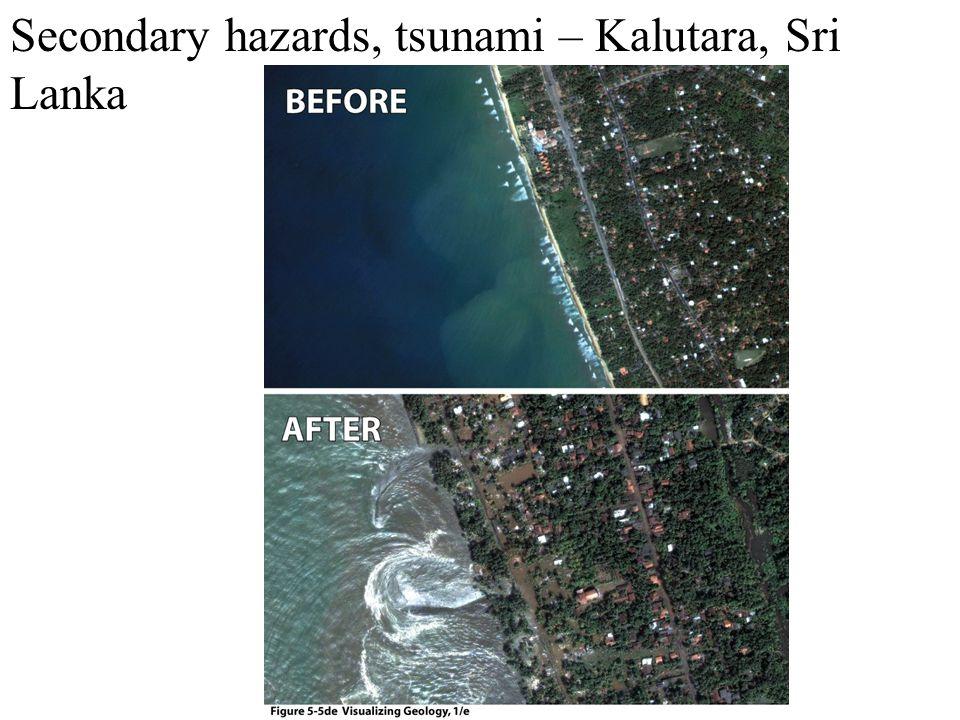 Secondary hazards, tsunami – Kalutara, Sri Lanka