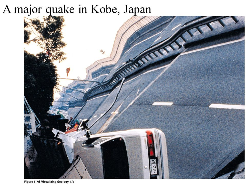 A major quake in Kobe, Japan