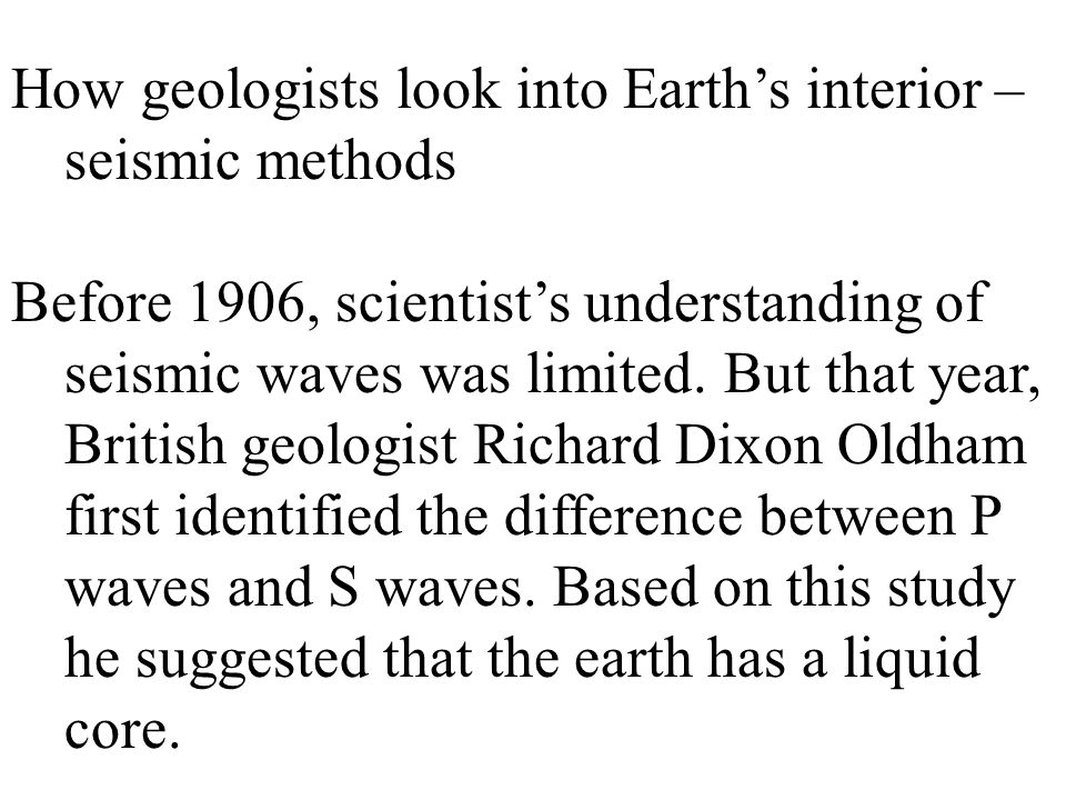How geologists look into Earth's interior – seismic methods