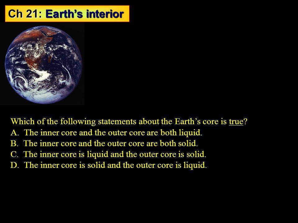Ch 21: Earth's interior Probing Earth's interior - ppt ...