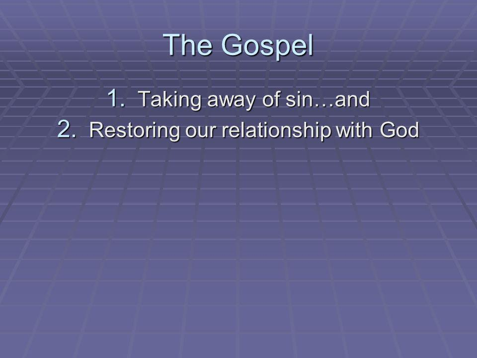 Restoring our relationship with God
