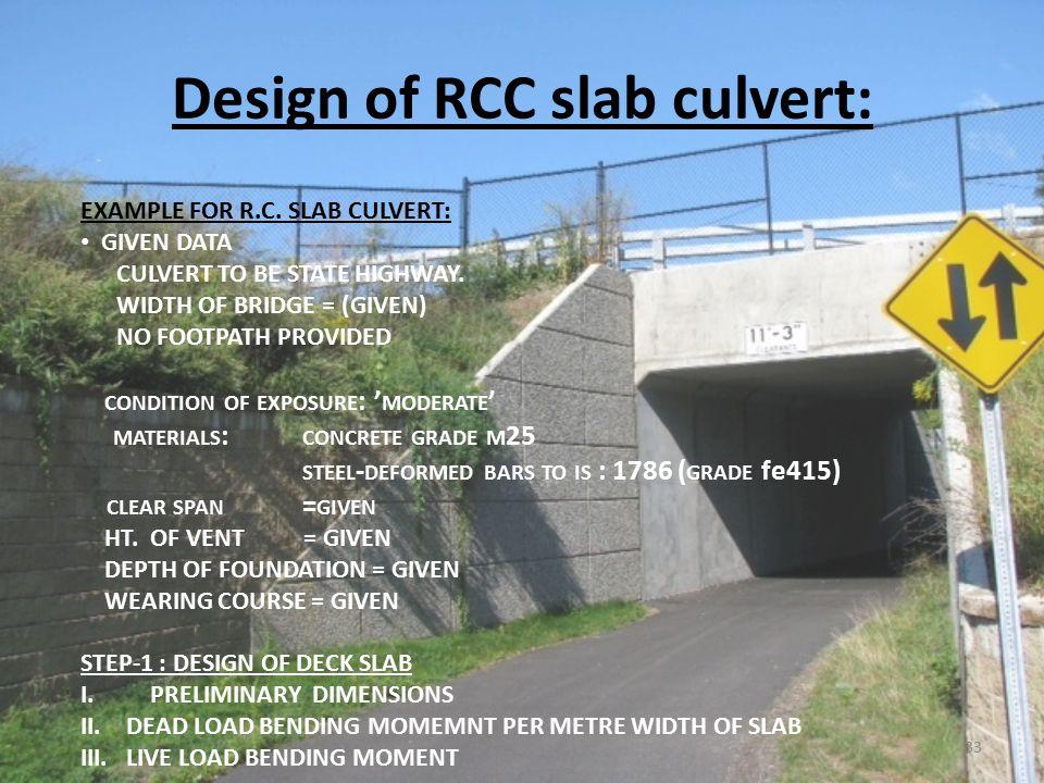 Rcc Slab Design : Unit i standard specification for road bridge ppt video