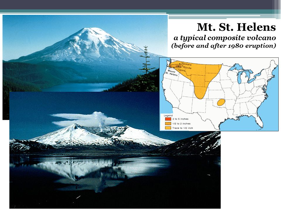 Mt. St. Helens a typical composite volcano